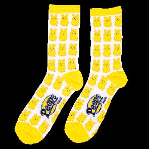 Peeps adult socks with peep chick pattern in various colors