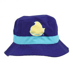 purple youth bucket hat with yellow peep chick on the front