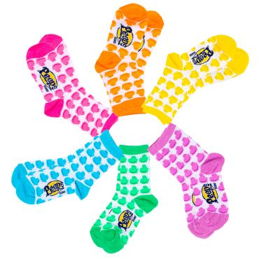 Peeps youth socks with peep chick pattern in various colors