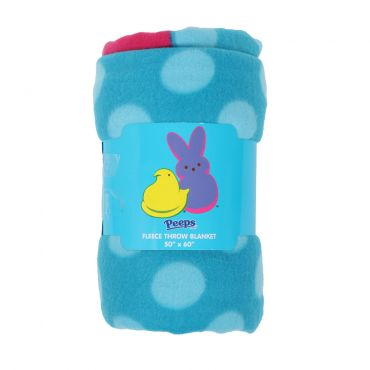 PEEPS® Pink Bunny Fleece Blanket