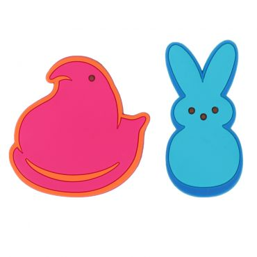 Peeps pink chick and blue bunny magnets