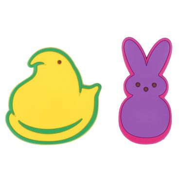 Peeps yellow chick and purple bunny magnet set