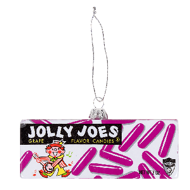 Jolly Joes vintage graphic ornament with tree hanger loop