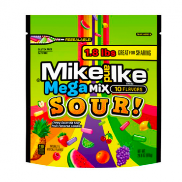 MIKE AND IKE® Mega Mix Sour 28.8 oz. Stand Up Bag