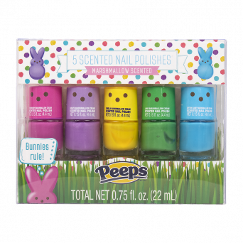 Peeps scented nail polish set marshmallow scented in multiple colors