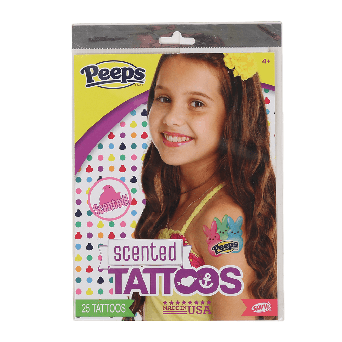 Peeps temporary scented tattoo set with multicolored peep bunnies