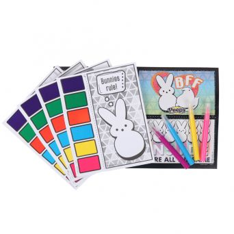 Peeps Paint and activity set with colored markers and coloring sheets