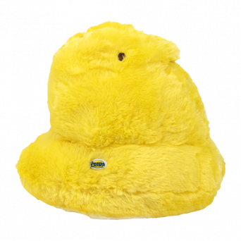 """Yellow Peeps chick 12"""" shaggy scented plush toy with enamel Peeps logo button"""