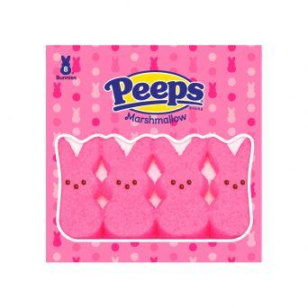 Peeps 8 count bunnies pink flavor