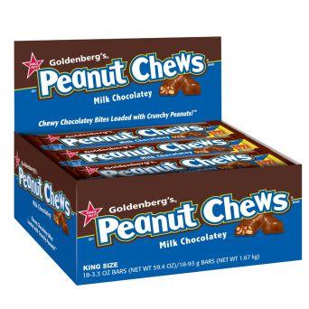 GOLDENBERG'S® PEANUT CHEWS® Milk Chocolate 3.3oz. King Size Bar, 18 Count